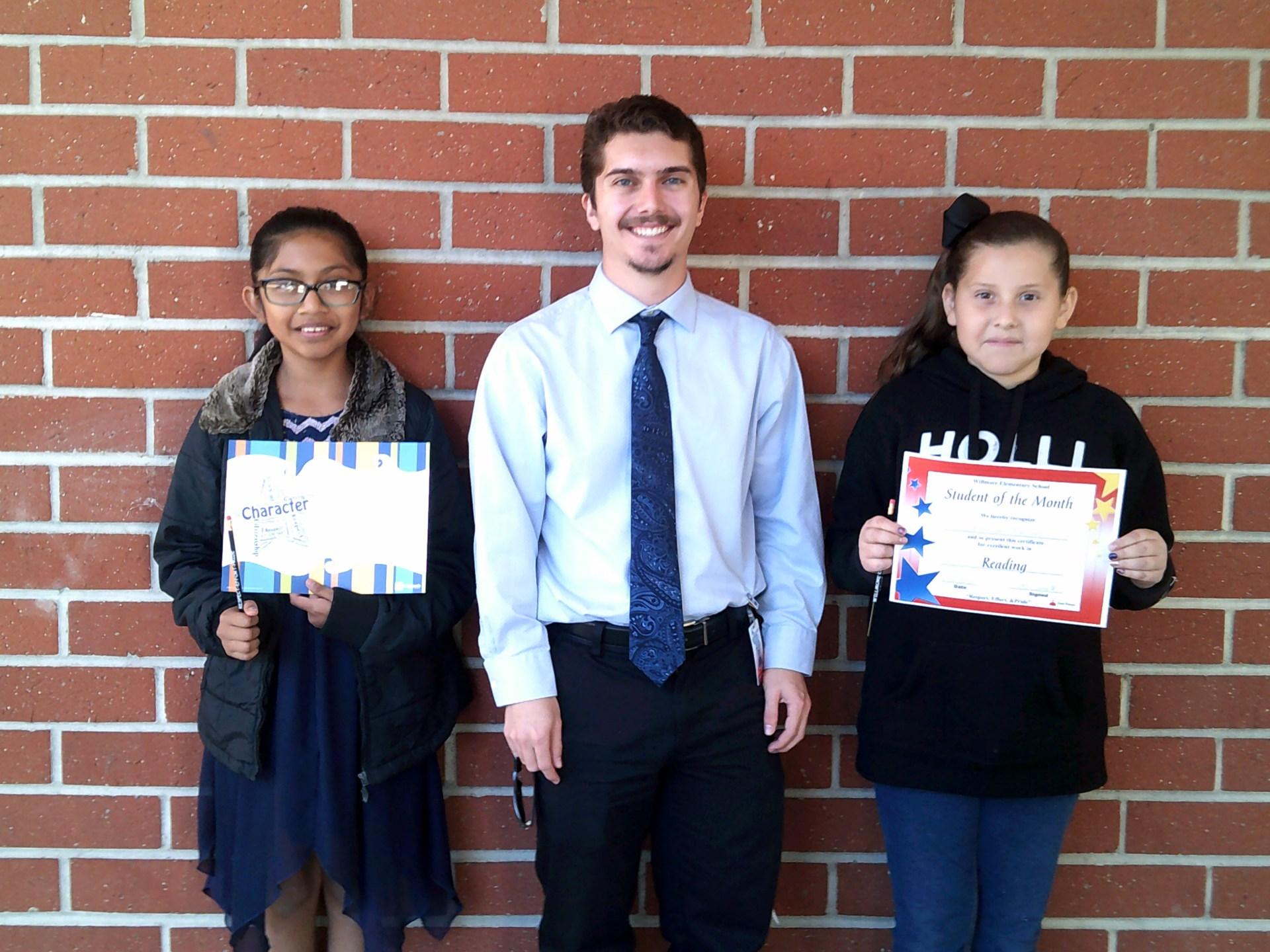 Mrs. Kapustin's & Mr. Smith's December Honorees