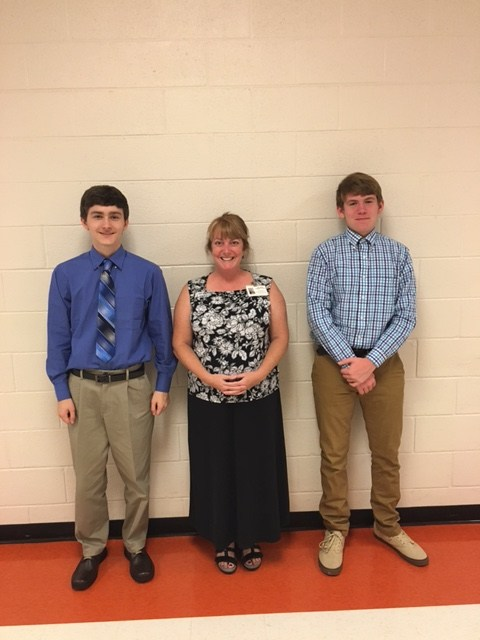 Luke & Bradley with Mrs. Payne (Villages of Wilkes)