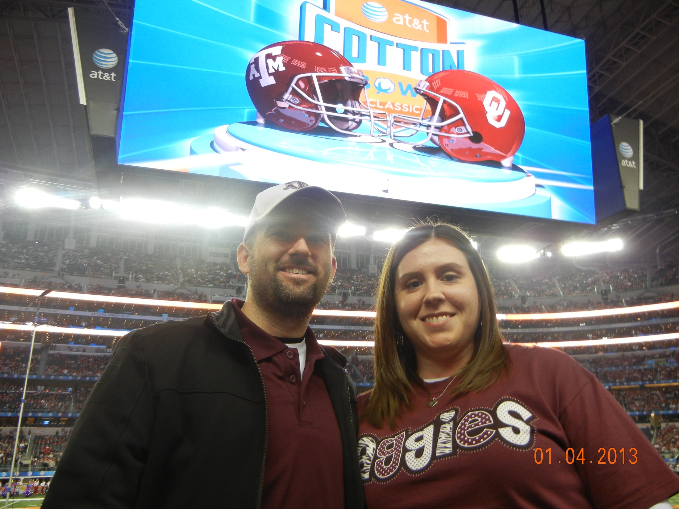 At Aggie game