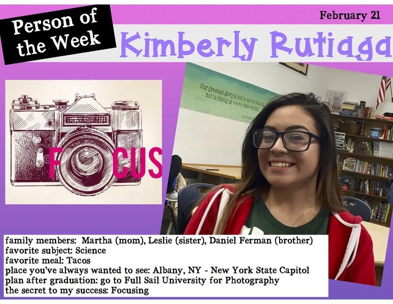HCAL Person of the Week Kimberly Rutiaga