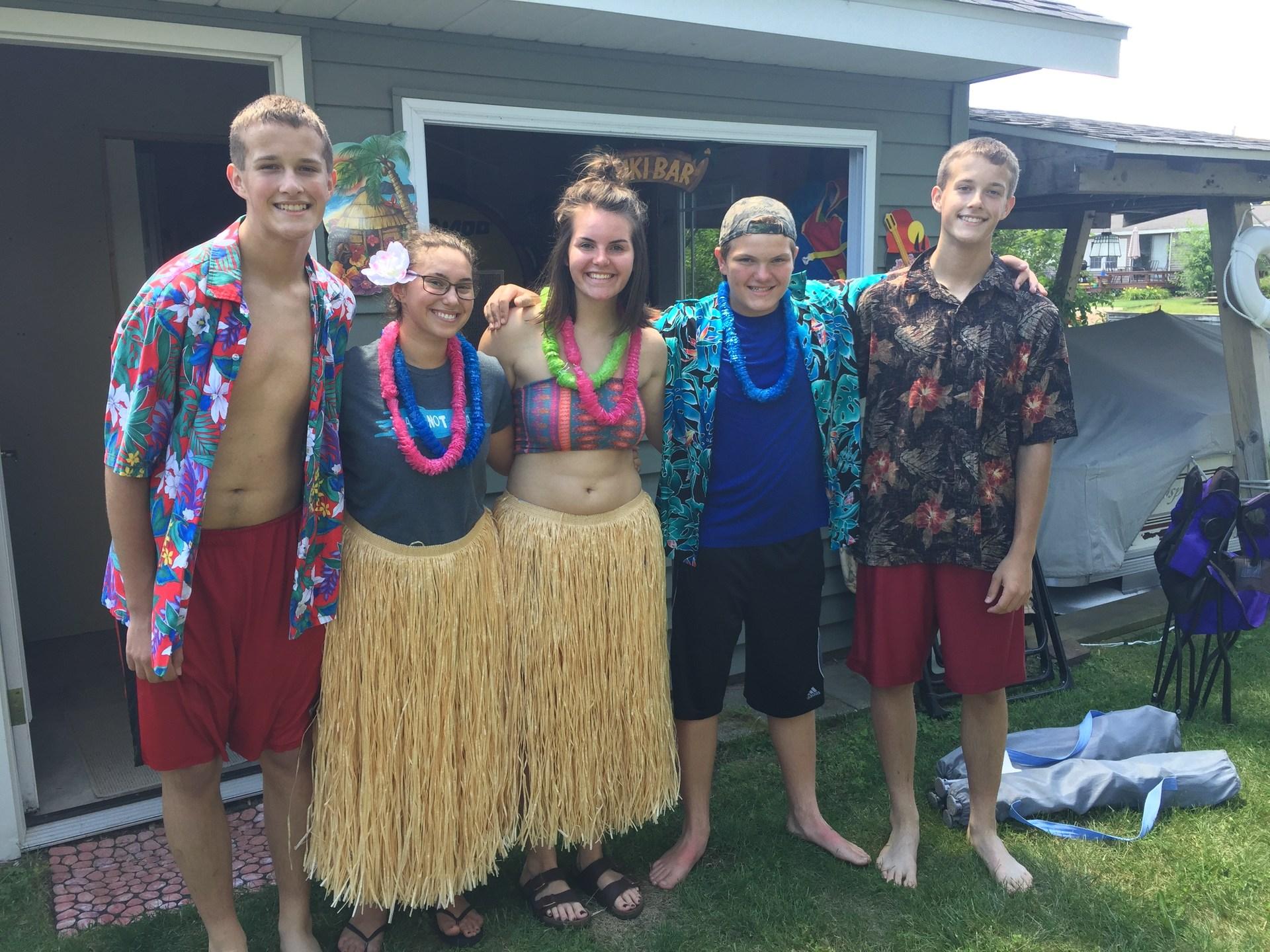 Nieces and nephews at Gun Lake cottage.