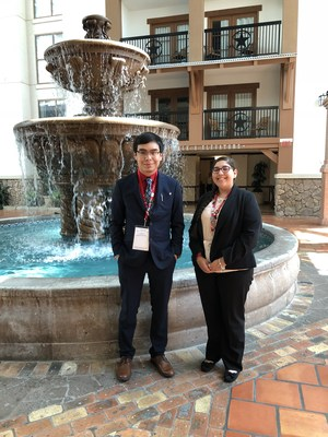 Pictured are MHS students, Juan Reyna and Kenya Salinas, attending the BPA National Leadership Conference.