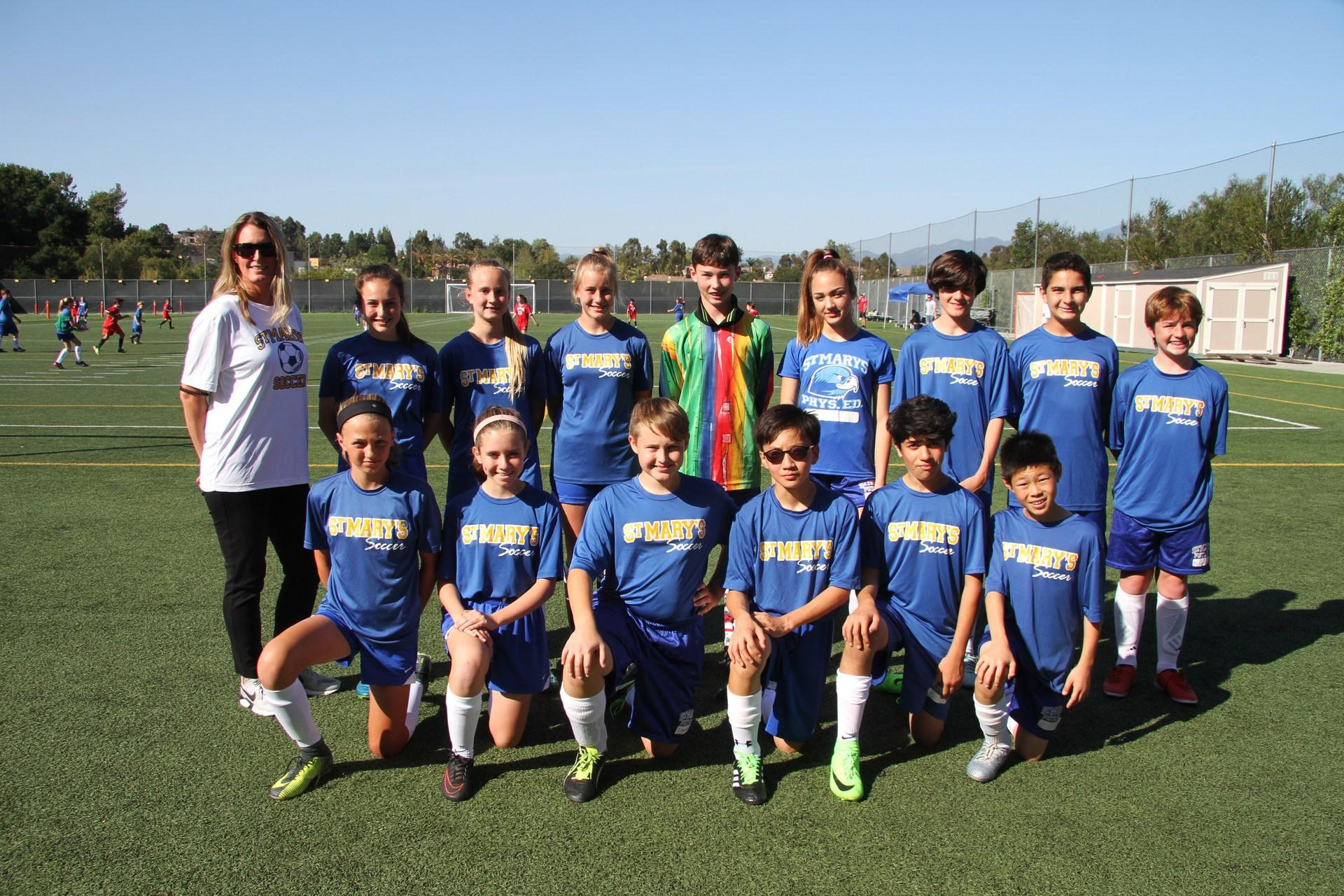 Mountain B coed soccer team