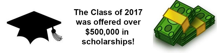 The class of 2017 was offered over $500,000 in college scholarships