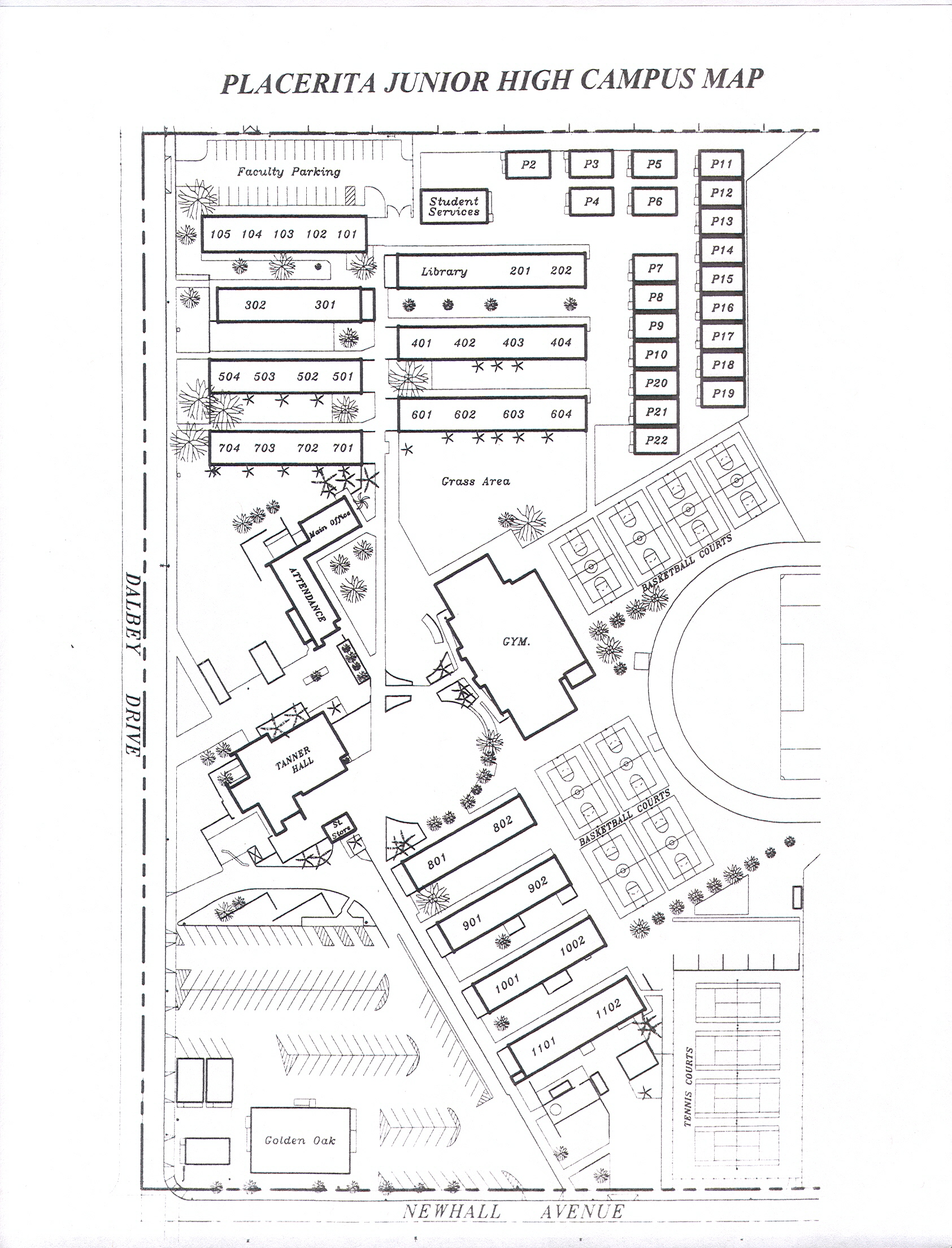 Red Mountain High School Campus Map.Placerita Junior High
