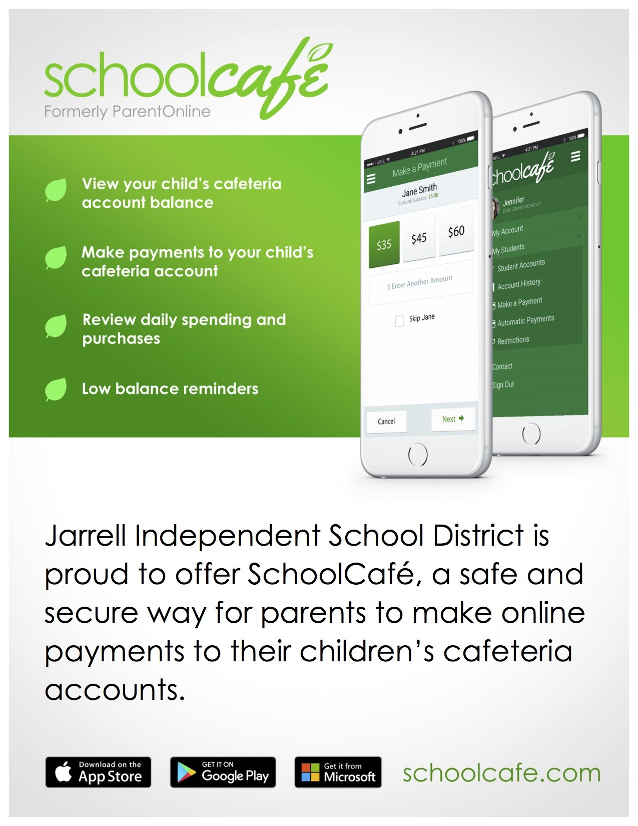 School Cafe Flyer