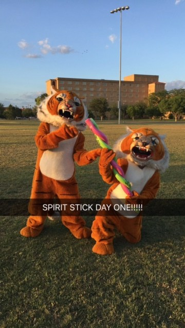 Tony and Tom got their Spirit Stick at Camp