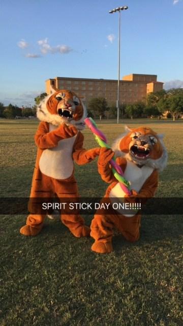 Tony and Tom got their Spirit Stick at Camp