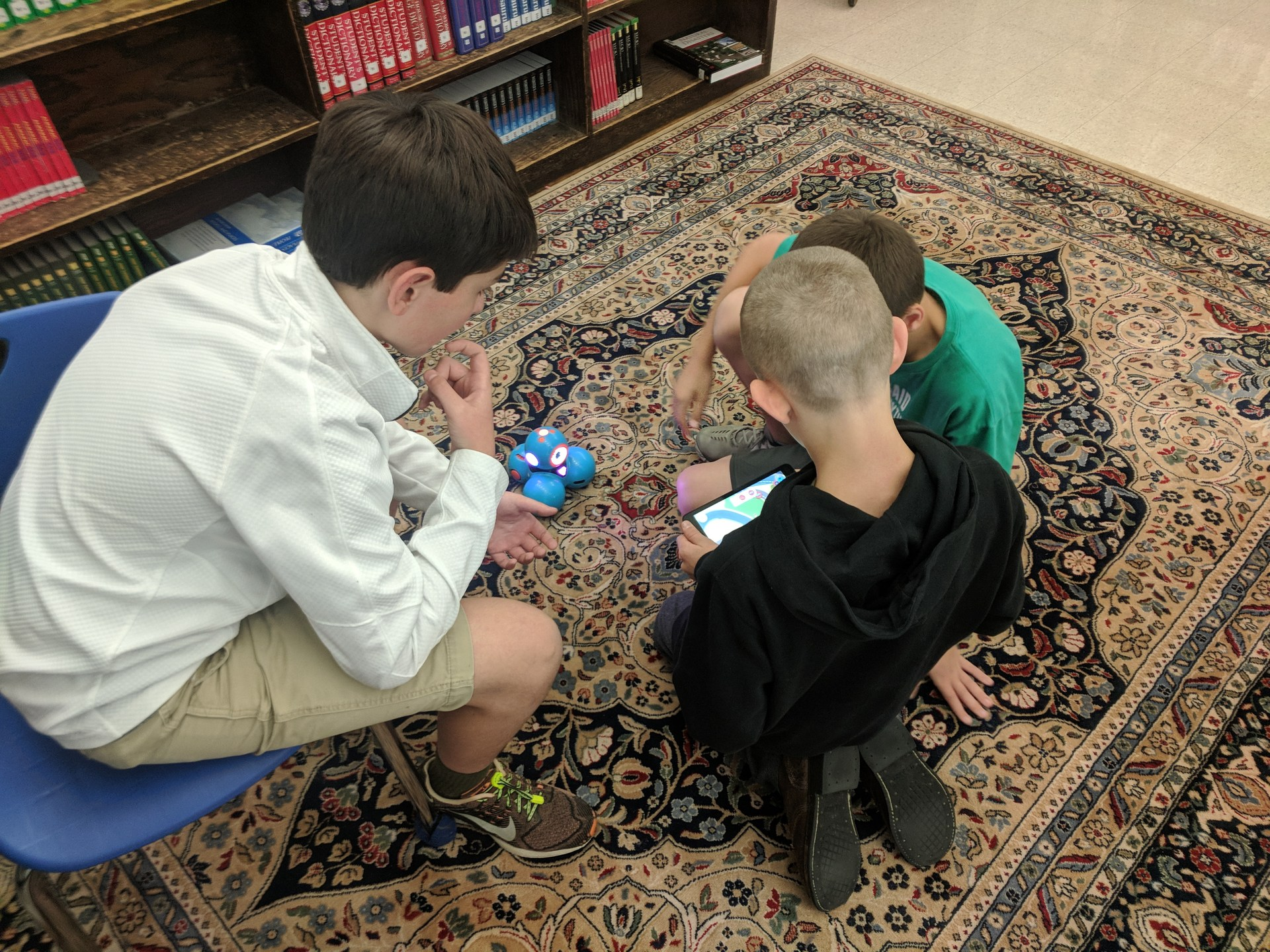 Students working with Dash