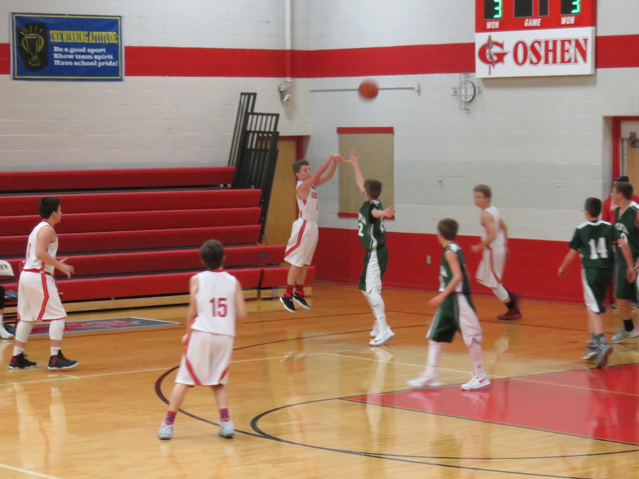 8th grade boys basketball player Jack Webster