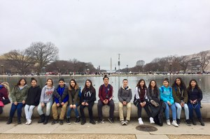 STEAM Students @ Lincoln Memorial Reflecting Pool
