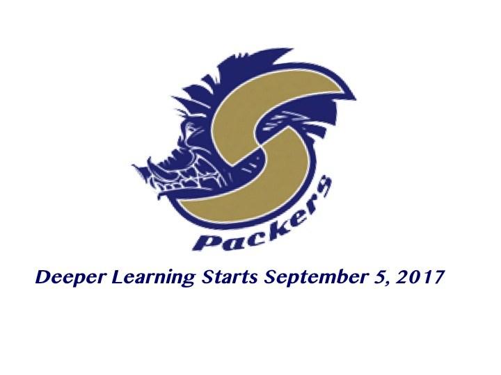 Deeper Learning Starts September, 5 2017 and SHS logo