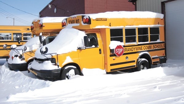 Brandywine School Bus on a winter day