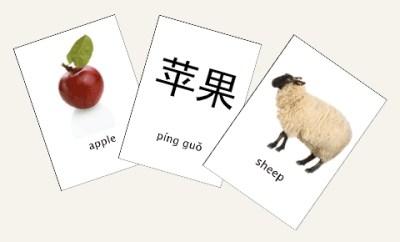 flashcard with mandarin on it
