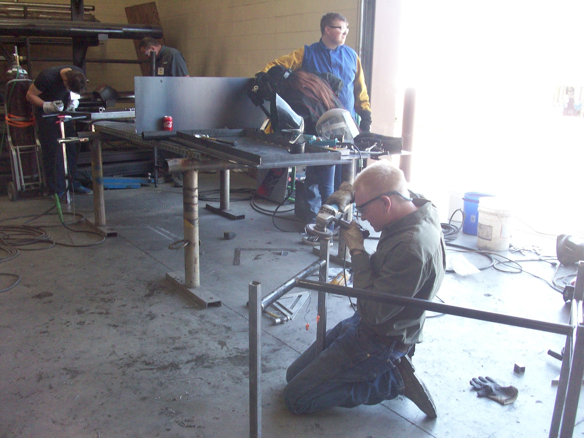 Welding Students working on their project