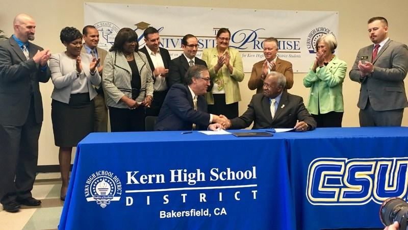 University Promise signing ceremony.