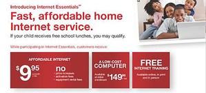 internet essentials info from comcast