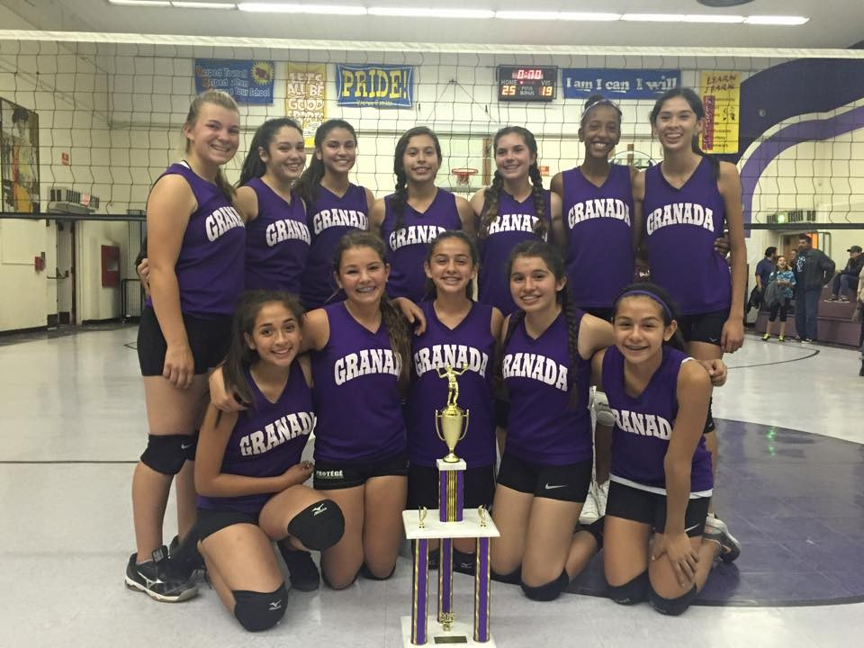 Granada Middle School girls volley ball team