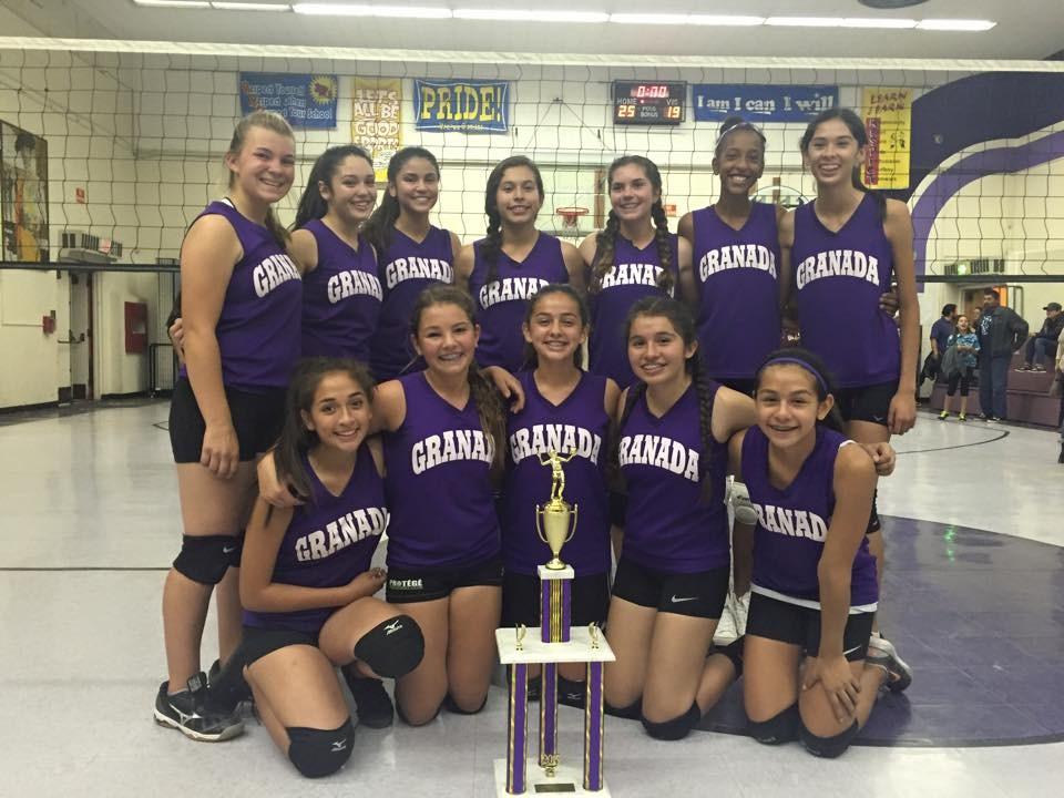 Granada Middle School girls volley ball team