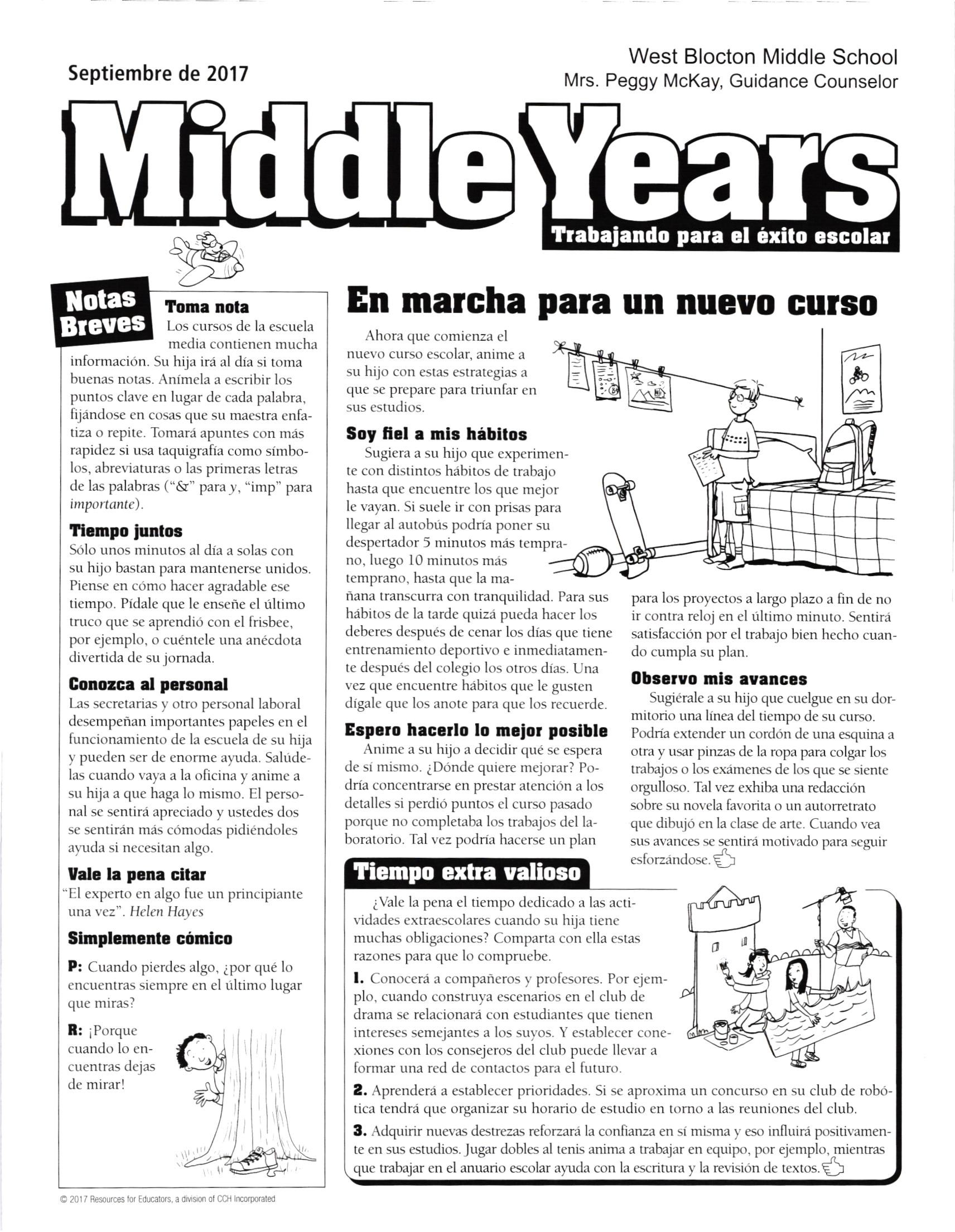 September Spanish Page 1