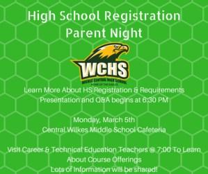 WCHS Registration