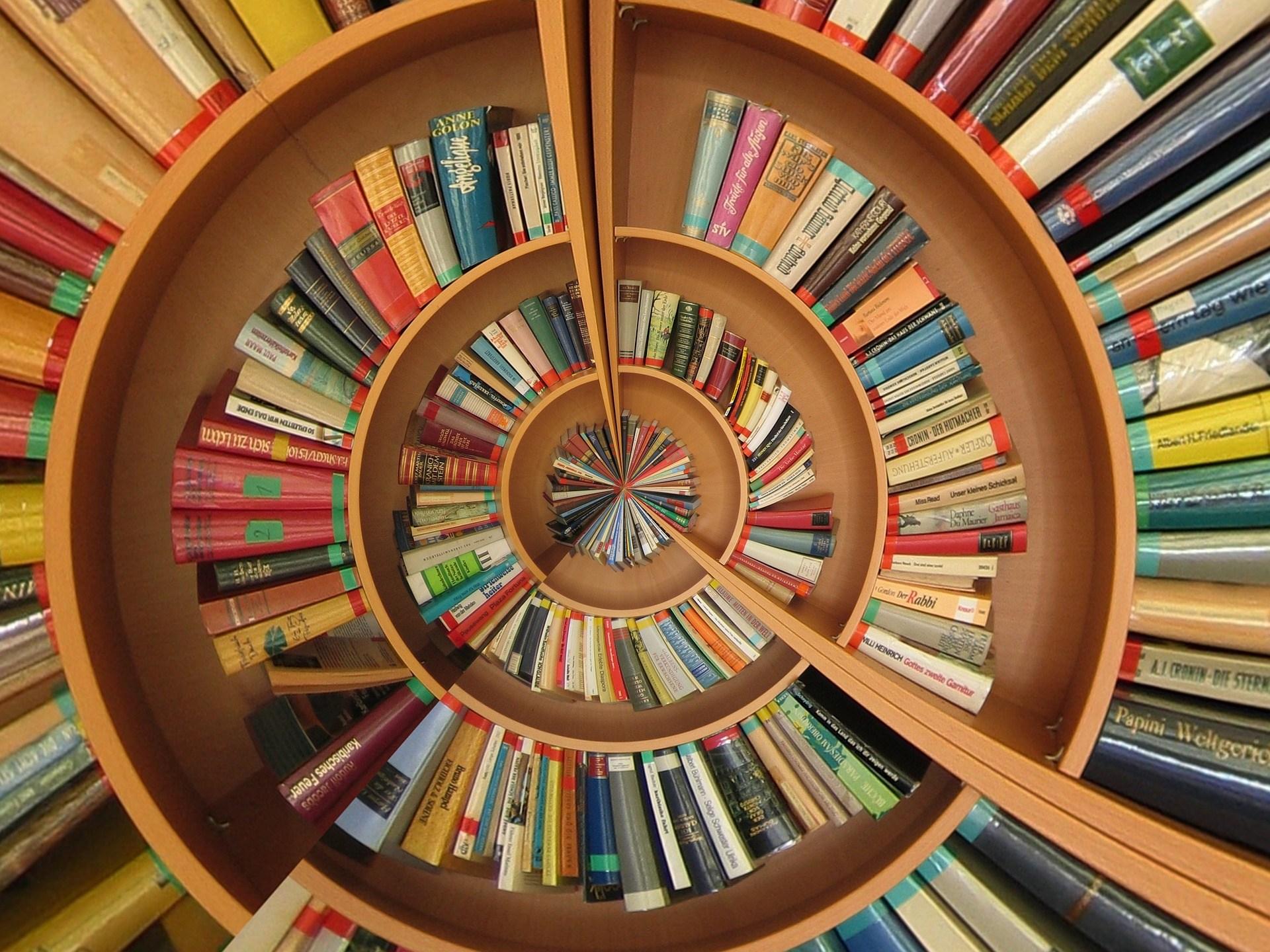 spiral book case