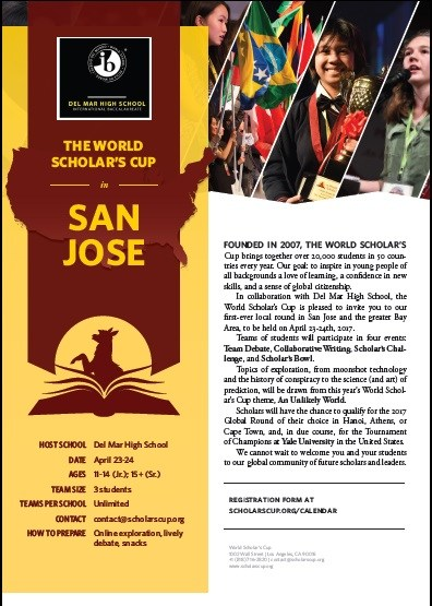 Image of 2017 World Scholar's Cup Regional Competition at Del Mar in March