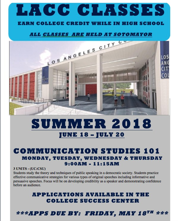 Students - FREE Los Angeles Community College Summer Classes Thumbnail Image