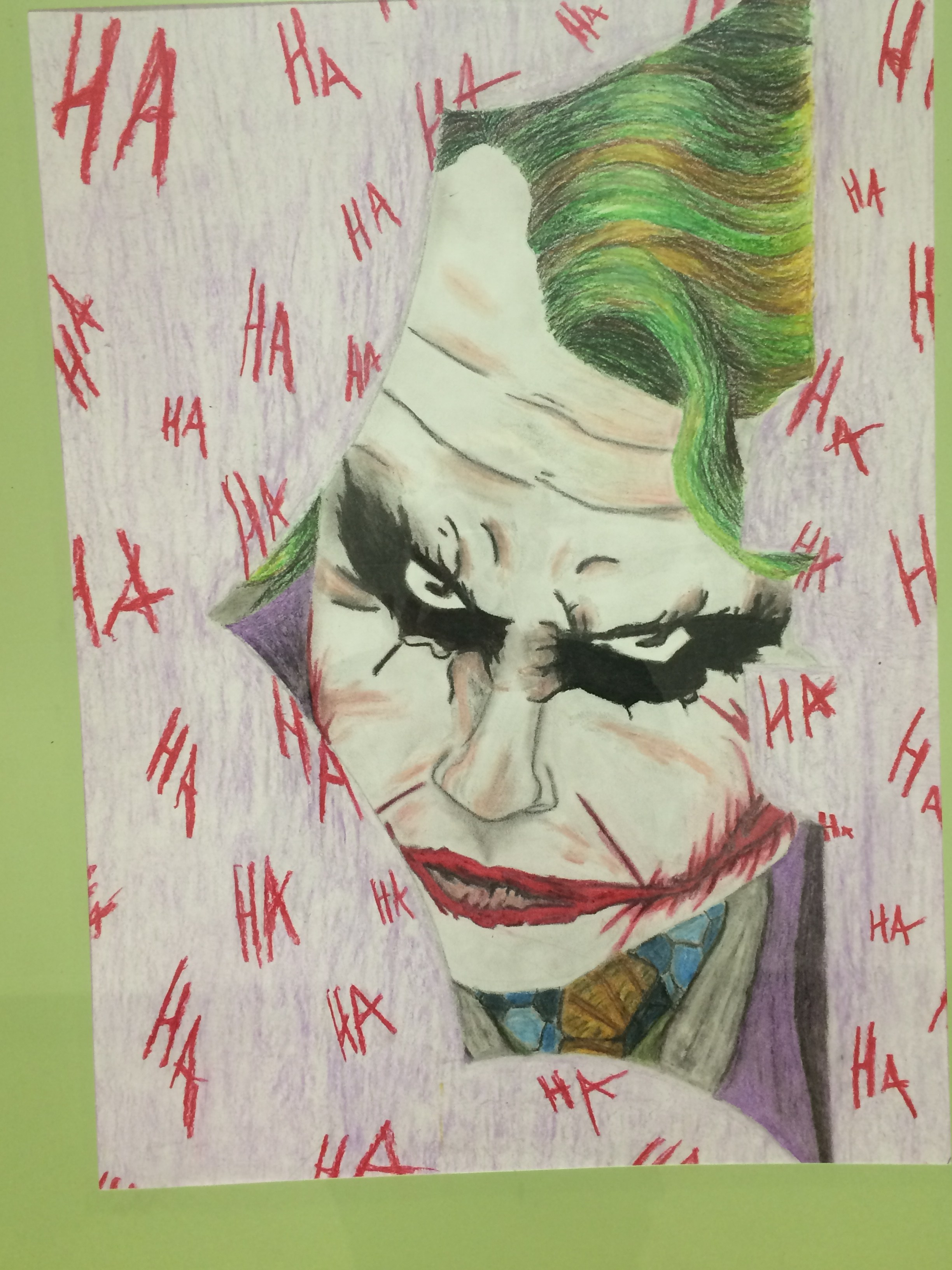 art student's joker from batman