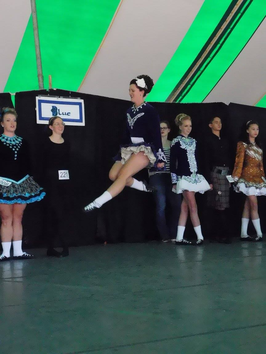 Mrs. Hwang in an Irish Dance competition