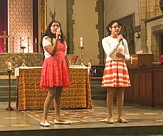 Students perform at Church Service