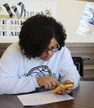 Picture, Student competing in UIL competition