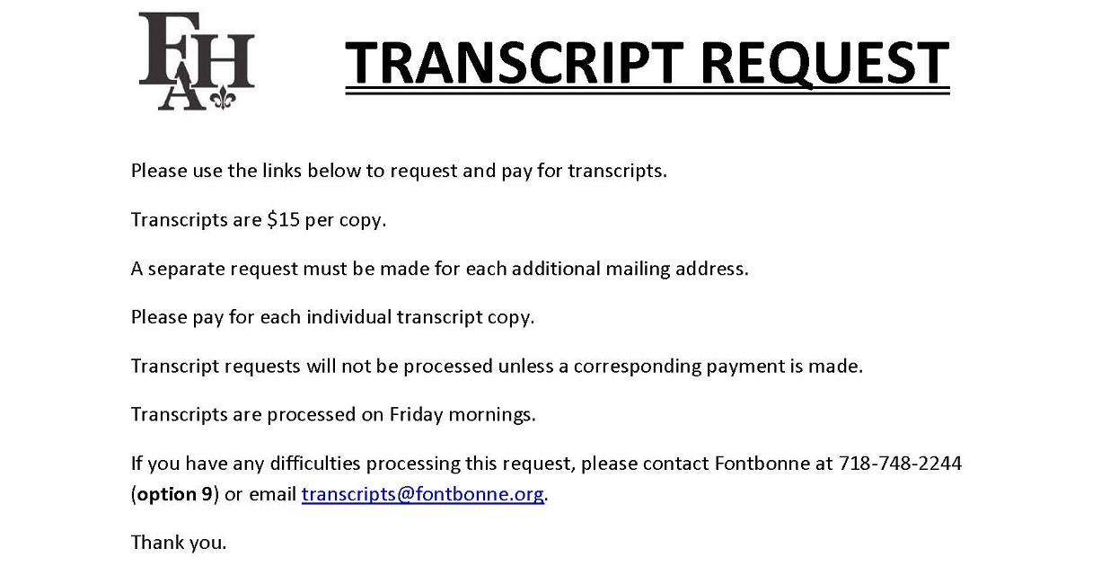 Transcript requests alumnae fontbonne hall academy transcript requests altavistaventures Images