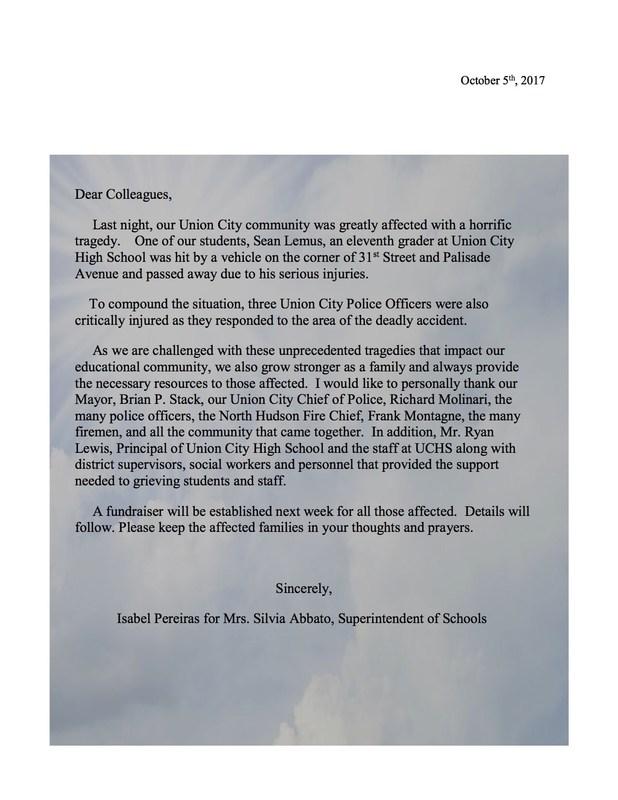 Death notice from Mrs. Abbato