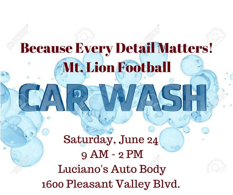 Mt. Lion Football Car Wash Planned Thumbnail Image