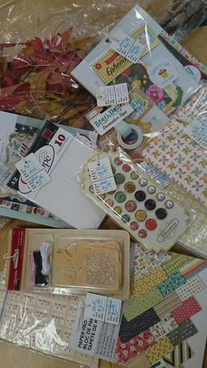 Photo of craft supplies for sale during Open House.