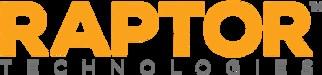 Company logo, Raptor Technologies.