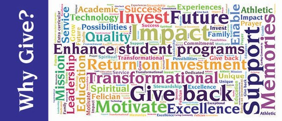 image with words shared by donors as to why they give to OLSH