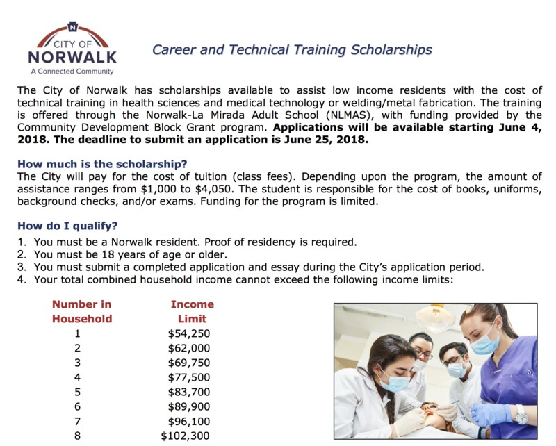 Career and Technical Training Scholarships! Featured Photo