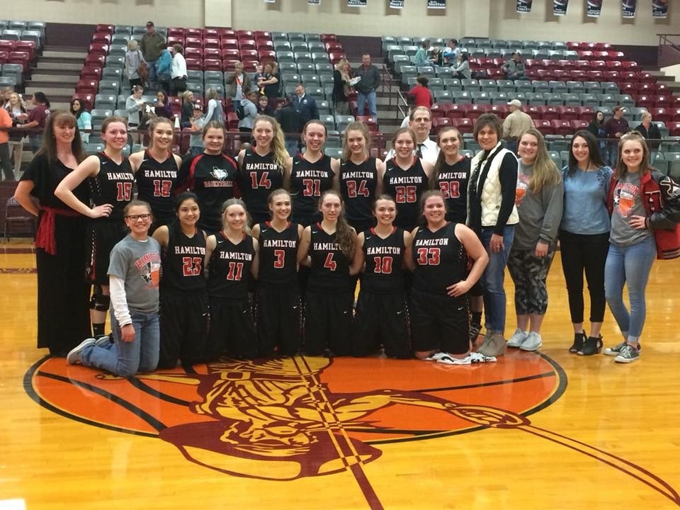 Bi-district champions girls varsity basketball