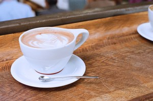 Coffee cup with latte