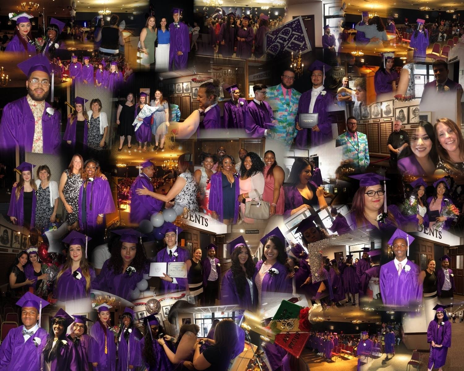 Photo collage from graduation