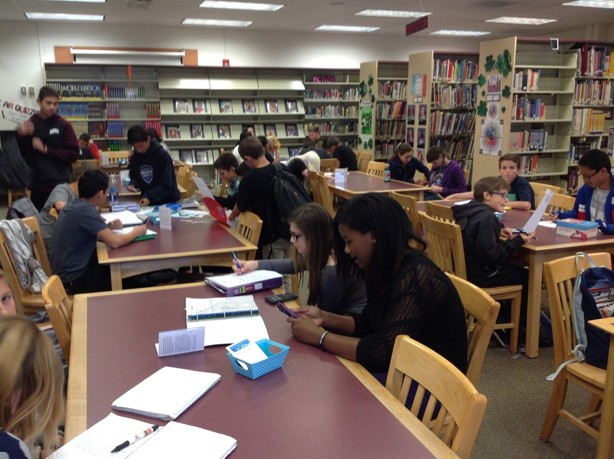 library library arroyo seco junior high students studying