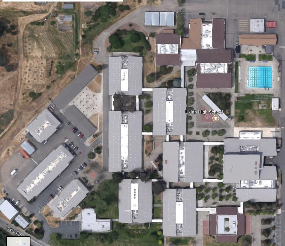 Overhead view of Ukiah High School
