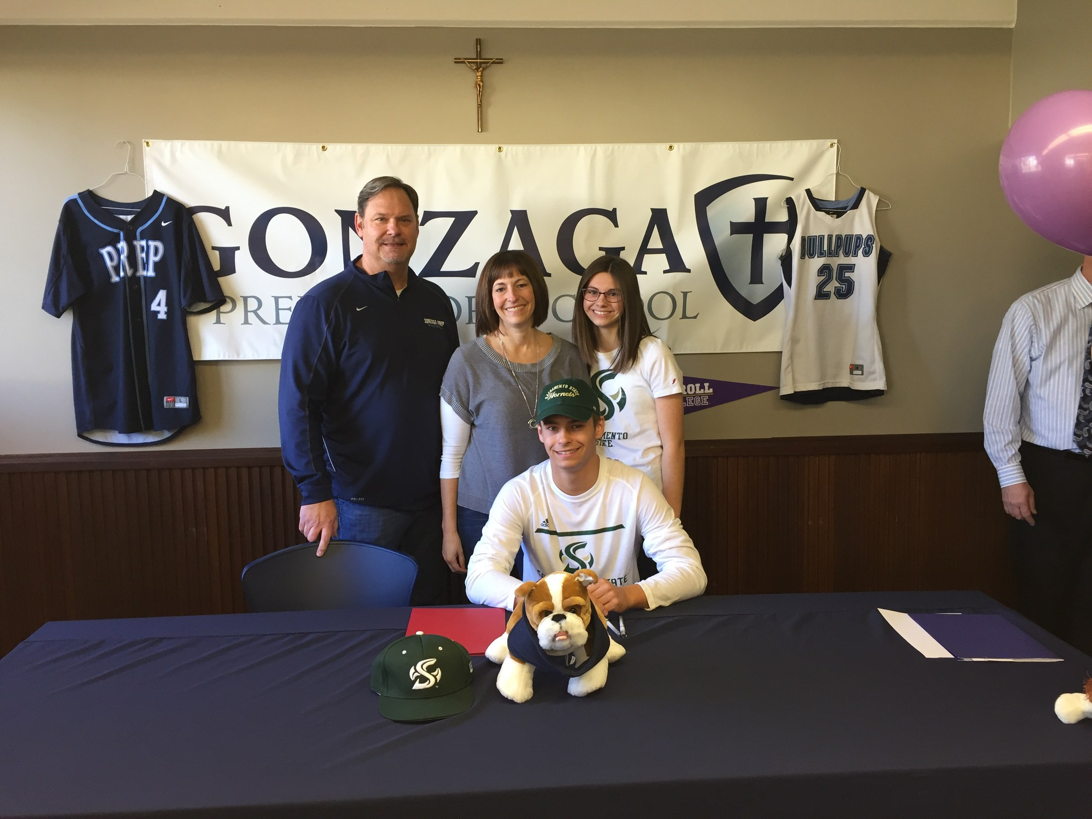 G-Prep Baseball Player Signing Letter Of Intent