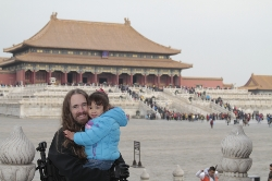 Willow and me in the forbidden city.