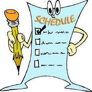 Schedule checklist clipart