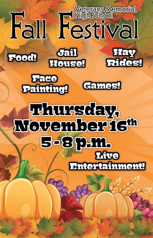 VMHS Fall Festival poster