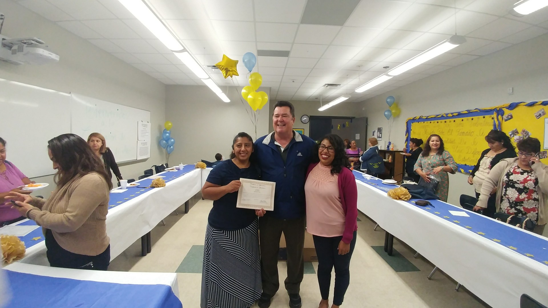 End of the year parent celebration