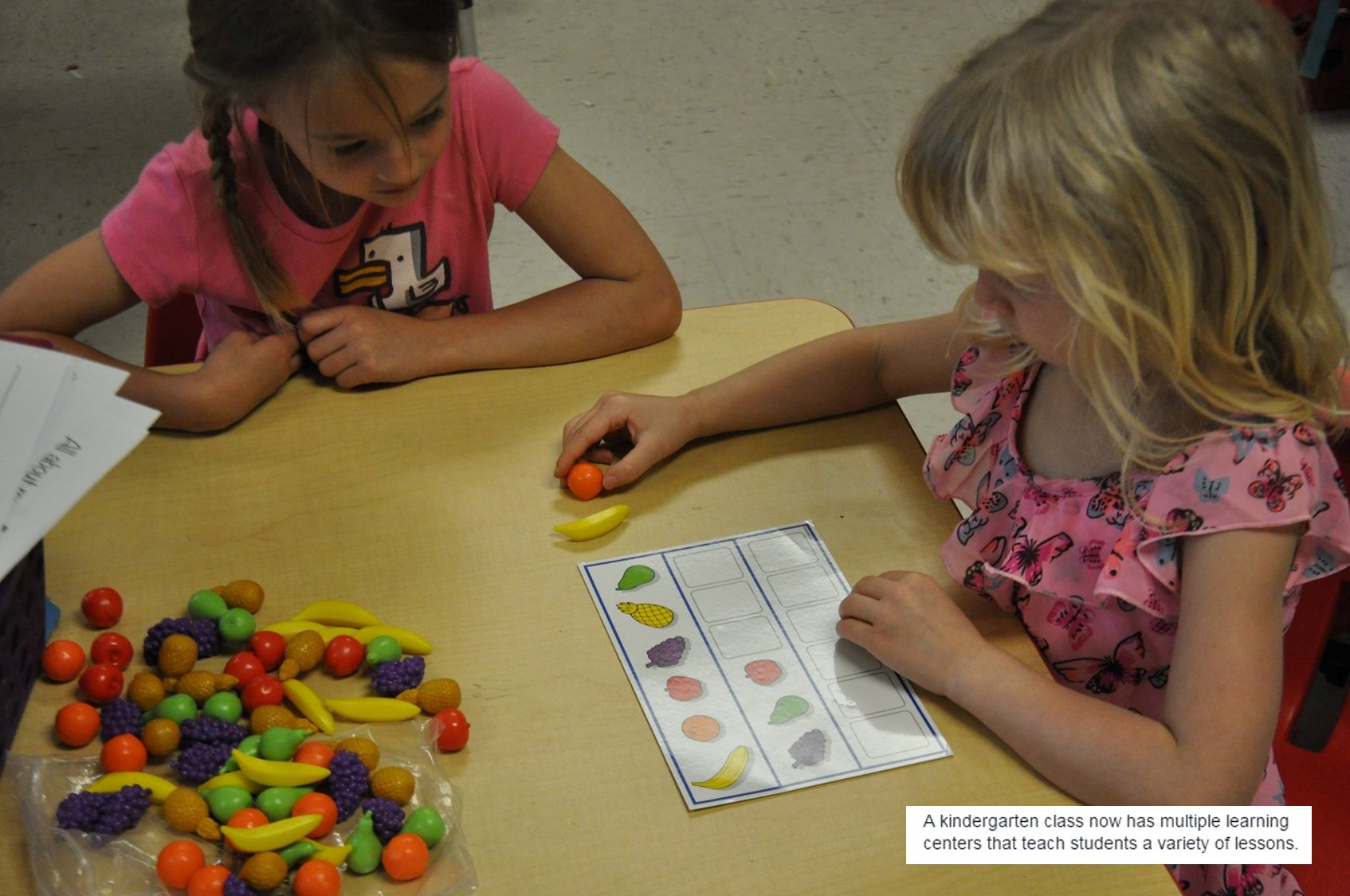 Colorful manipulatives